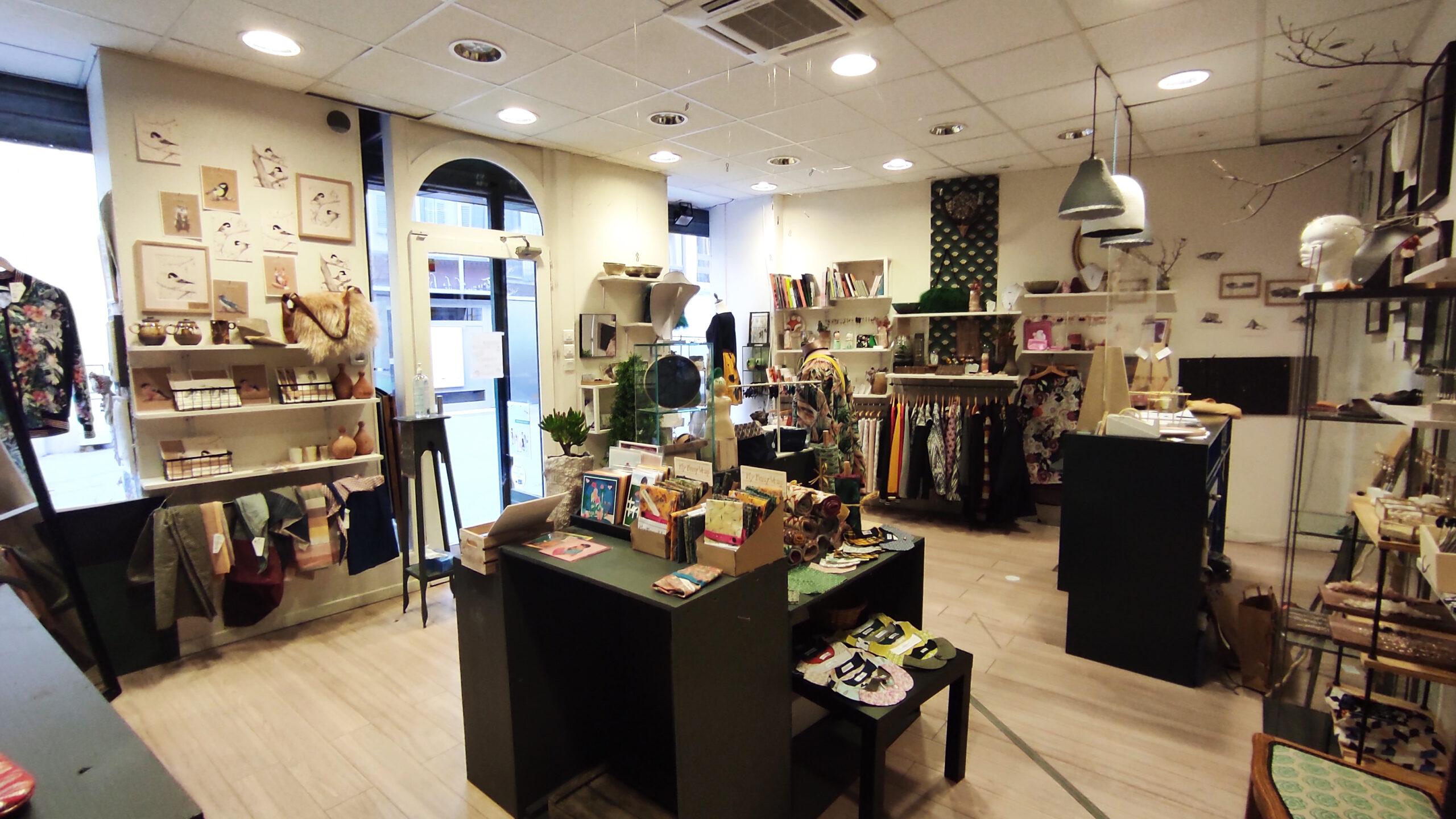 intérieur de la boutique La Femme à Barbe