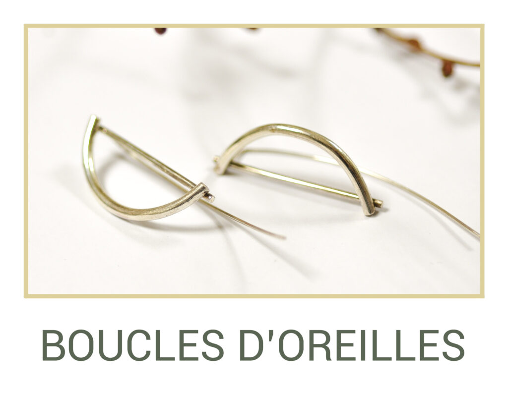 Marie Gonon bijoux création Saint-Etienne Loire - bouton boucles d'oreilles