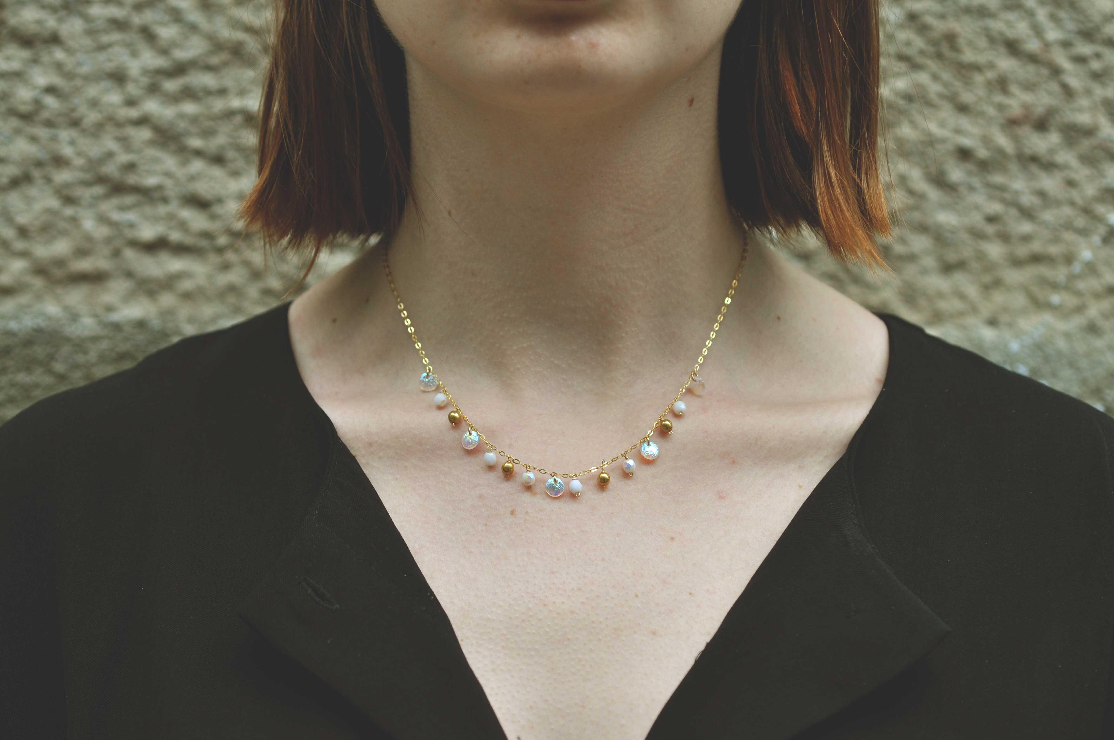 marie gonon bijouxcréation saint-etienne loire - collier en gold filled et perles
